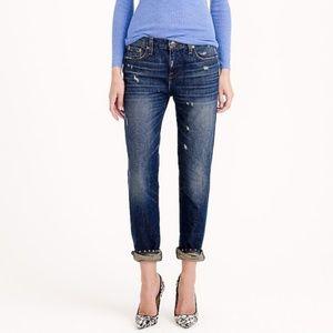 J. CREW Broken in Boyfriend Jeans in Traction Wash